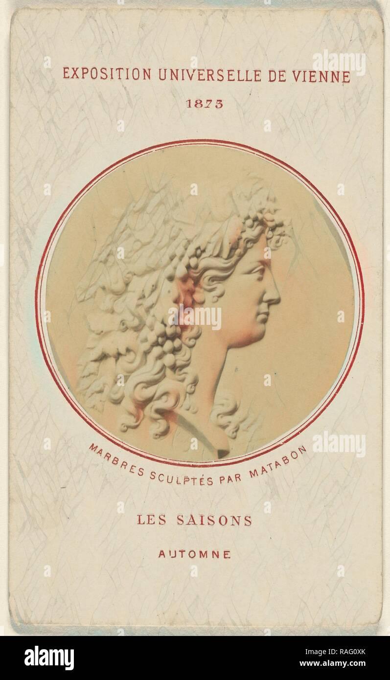 Les Saisons. Automne. Marbres Sculptes Par Matabon, French, 1873, Albumen silver print. Reimagined by Gibon. Classic reimagined - Stock Image