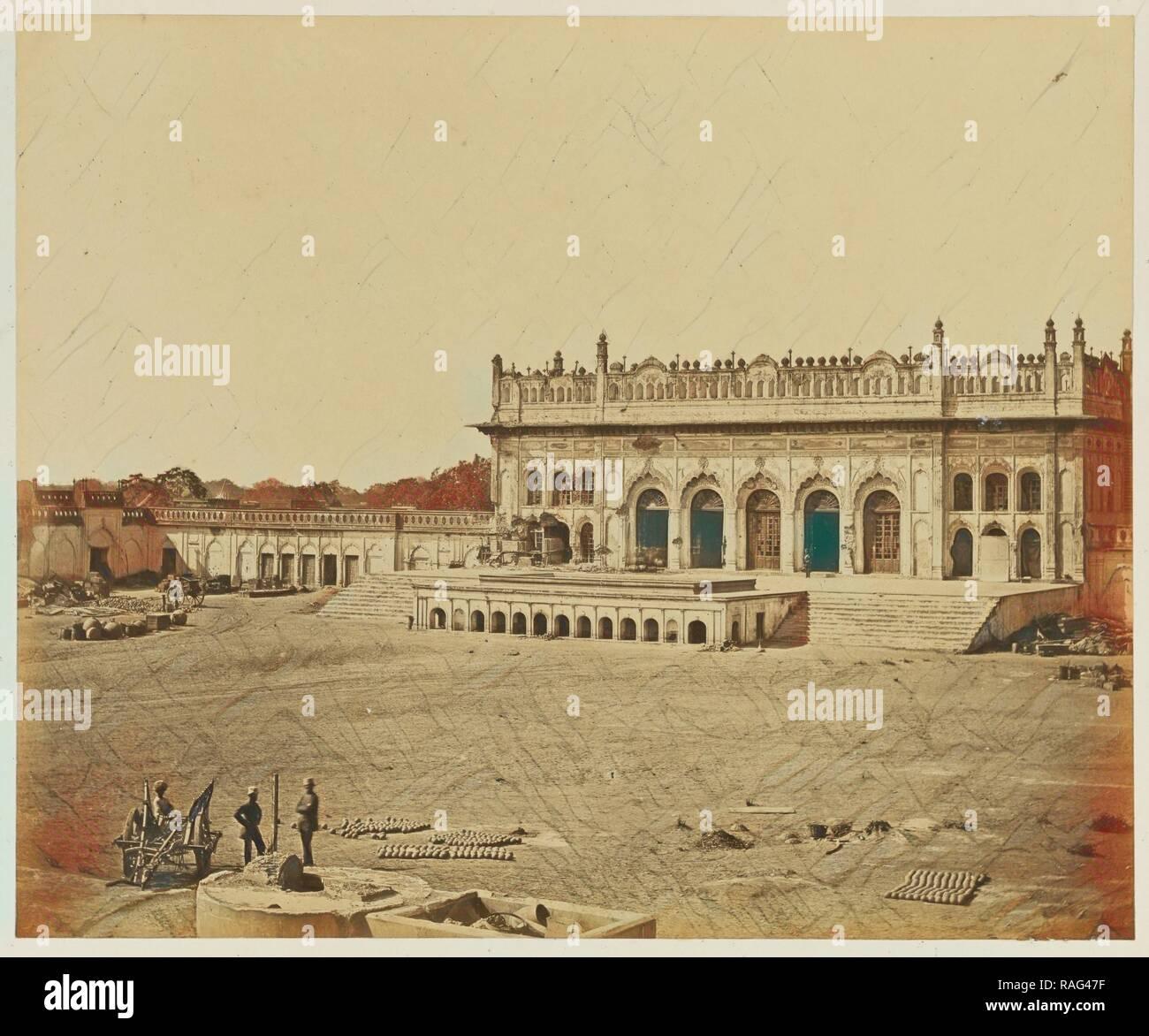 The Small Imambara, Felice Beato (English, born Italy, 1832 - 1909), India, 1858, Albumen silver print. Reimagined Stock Photo