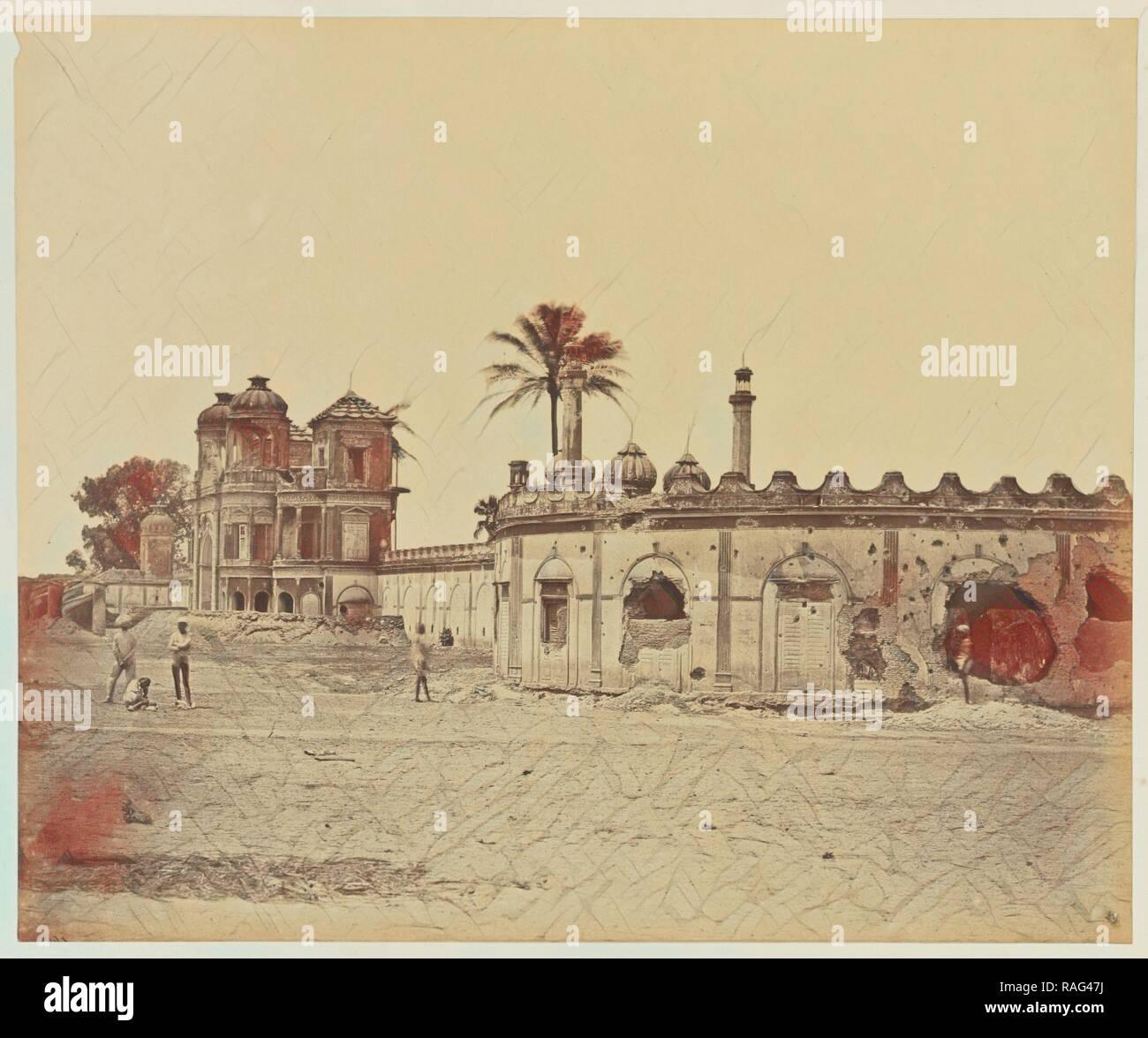 Sikandrabagh, Felice Beato (English, born Italy, 1832 - 1909), India, 1858, Albumen silver print. Reimagined - Stock Image