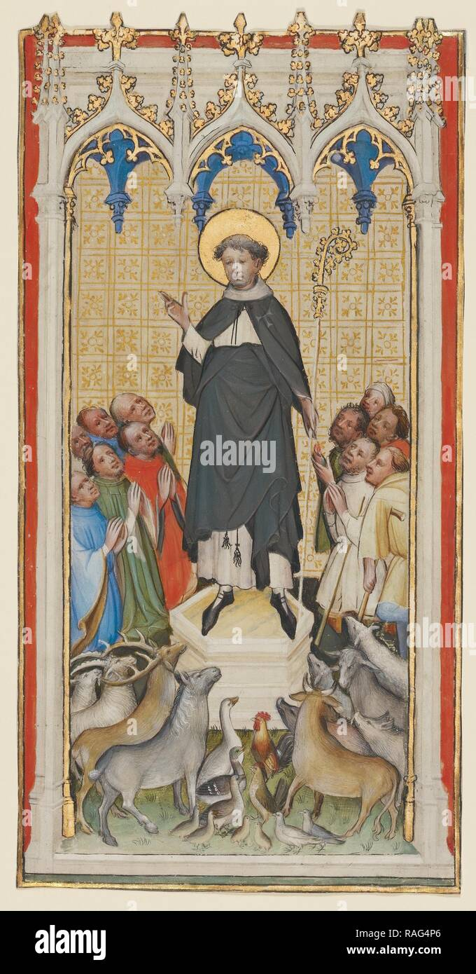 Saint Anthony Abbot Blessing the Animals, the Poor, and the Sick, Master of St. Veronica (German, active about 1395 reimagined - Stock Image