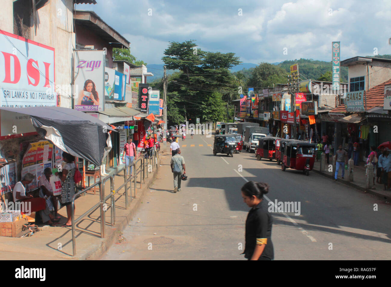 Straße in Sri Lanka - Stock Image