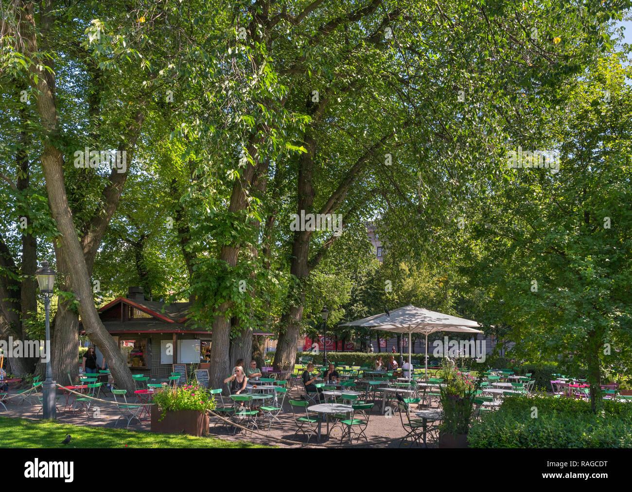 Tea room in Kungsträdgården, a park in the centre of the city, Norrmalm, Stockholm, Sweden - Stock Image