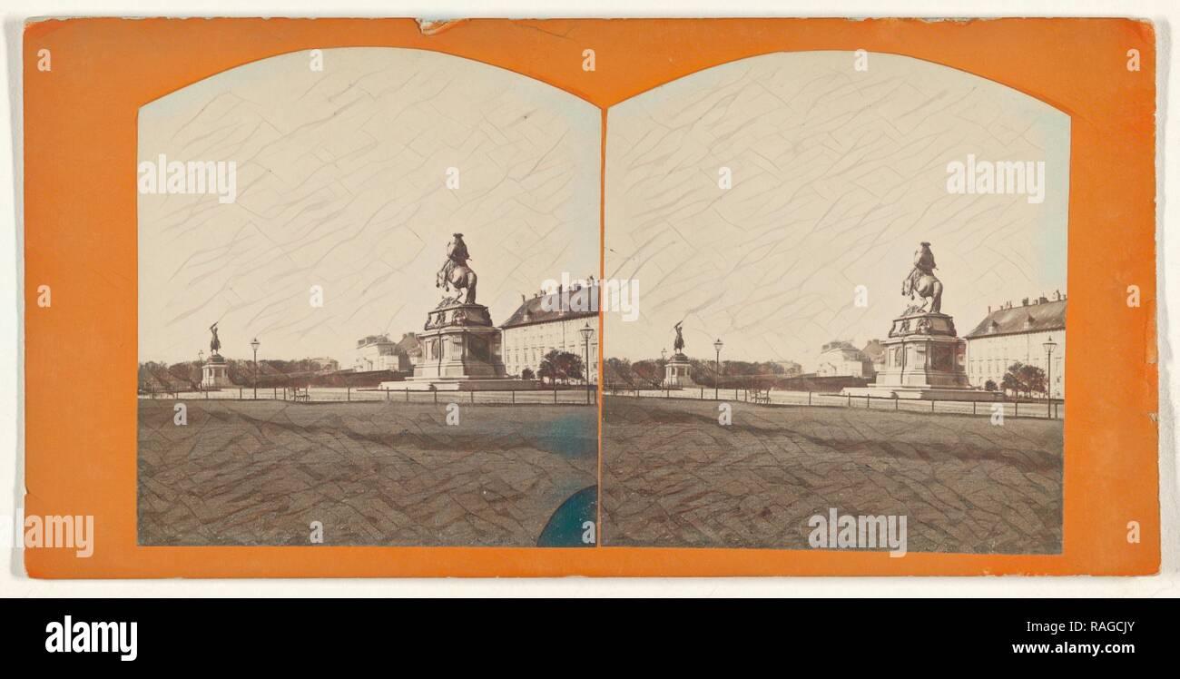 Heldenplatz, Austrian, about 1870, Albumen silver print. Reimagined by Gibon. Classic art with a modern twist reimagined - Stock Image