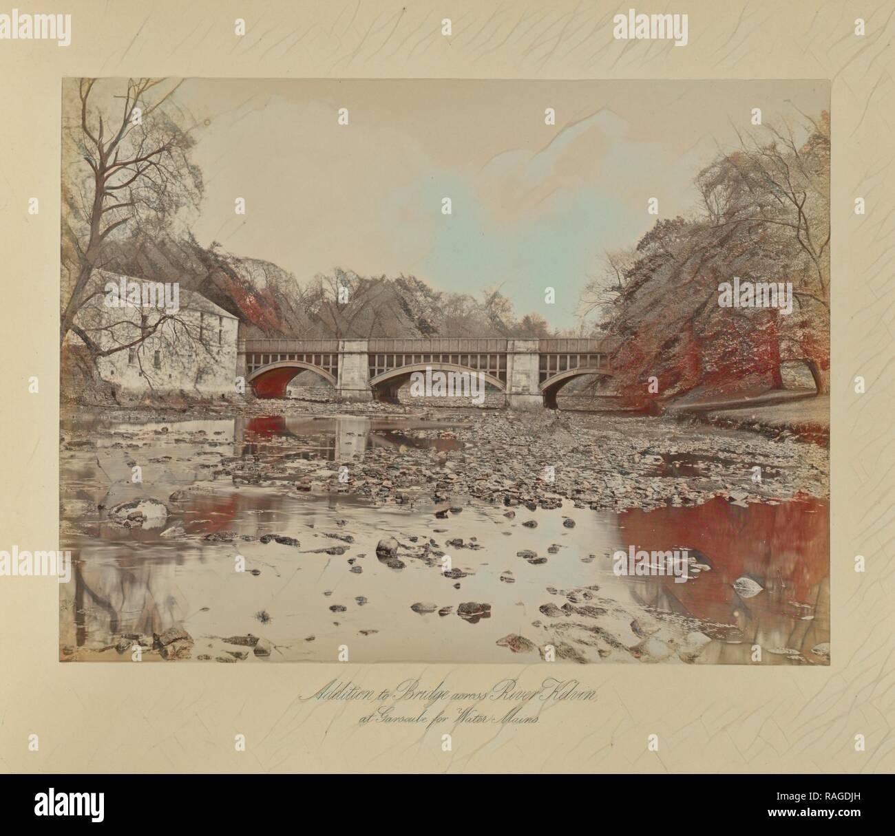 Addition to Bridge across River Kelvin, Thomas Annan (Scottish,1829 - 1887), Glasgow, Scotland, 1877, Albumen silver reimagined - Stock Image