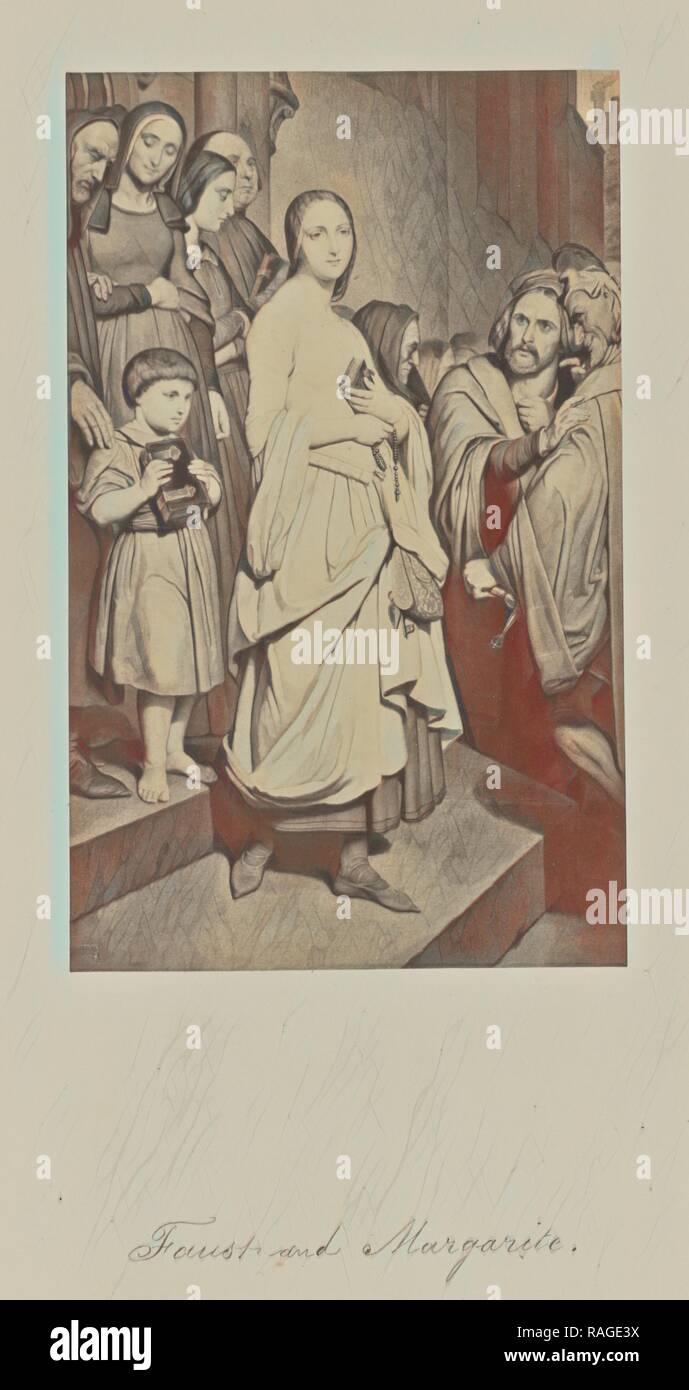 Faust and Margarite, Attributed to Caldesi & Montecchi (British, active 1850s), or Robert Jefferson Bingham (British reimagined - Stock Image