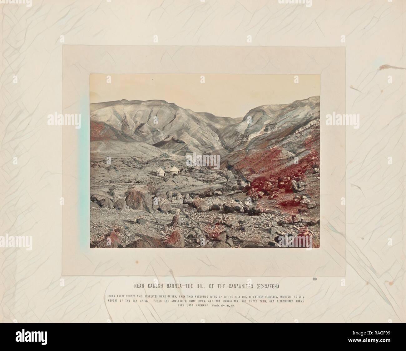 Near Kadesh Barnea - the Hill of the Canaanites (Ec-Safeh), Francis Frith (English, 1822 - 1898), Sinai Peninsula reimagined - Stock Image