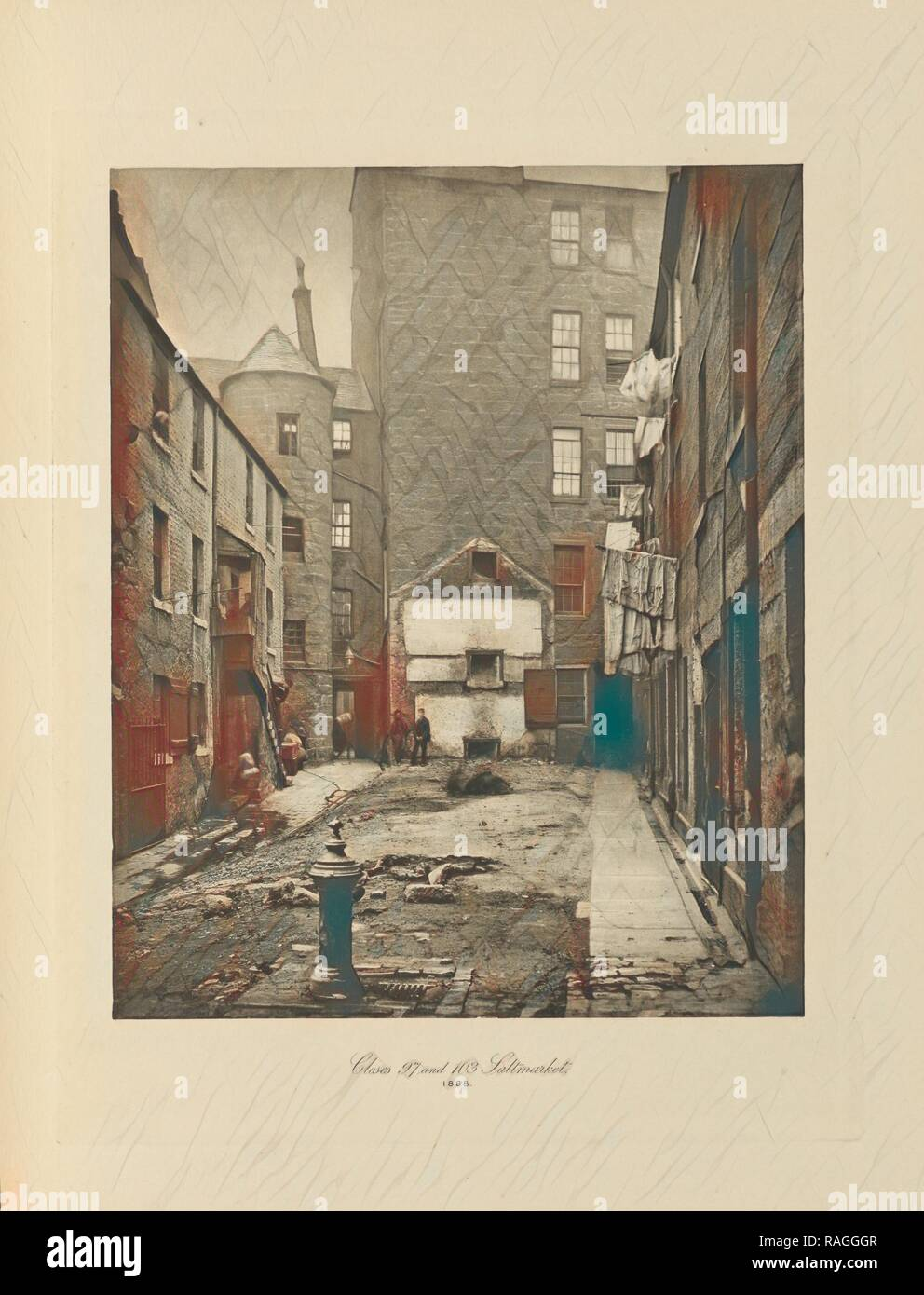 Closes Nos. 97 and 103 Saltmarket, Thomas Annan (Scottish,1829 - 1887), Glasgow, Scotland, negative 1868, print 1900 reimagined - Stock Image