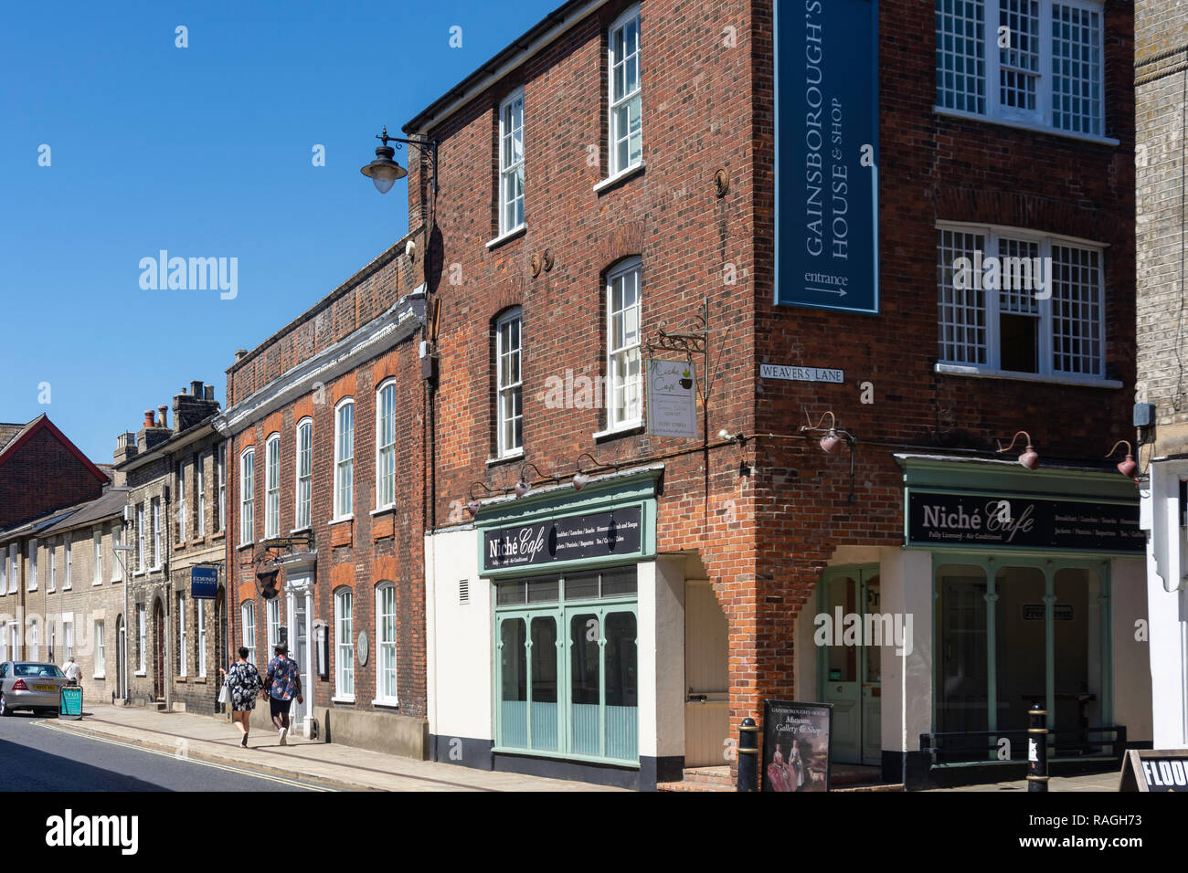 Gainsborough's House, Gainsborough Street, Sudbury, Suffolk, England, United Kingdom - Stock Image