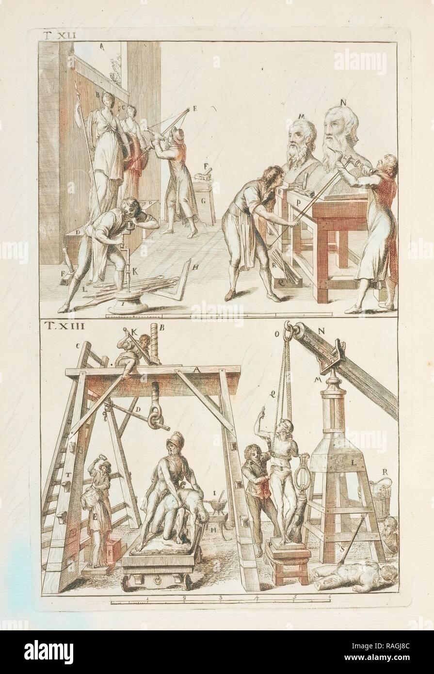Con istrumenti e lume adattato a simile operazione, tavola XIII nella quale vien dimostrato alcune porzioni di reimagined - Stock Image