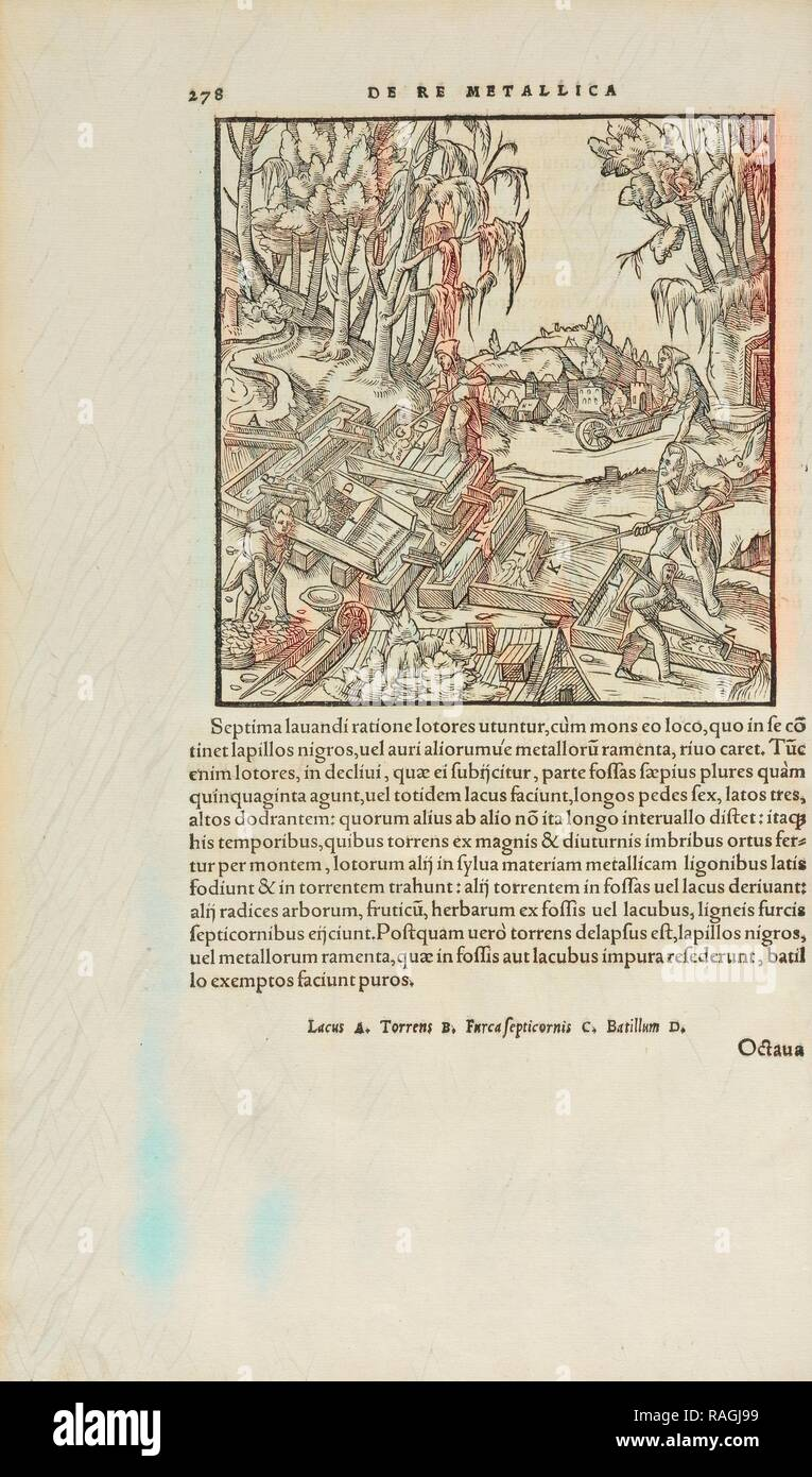 Page 278 Georgii Agricolae De re metallica: libri XII. Quibus officia, instrumenta, machinae, ac omnia deni, que, ad reimagined - Stock Image
