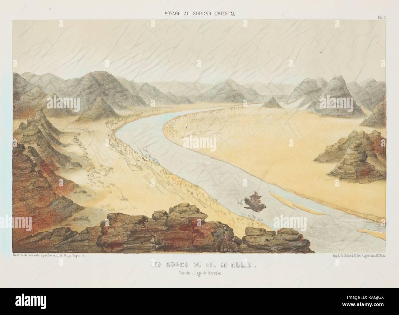 Les Bords du Nil en Nubie, Voyages au Soudan oriental et dans l'Afrique septentrionale, exécutés de 1847 à 1854 reimagined - Stock Image