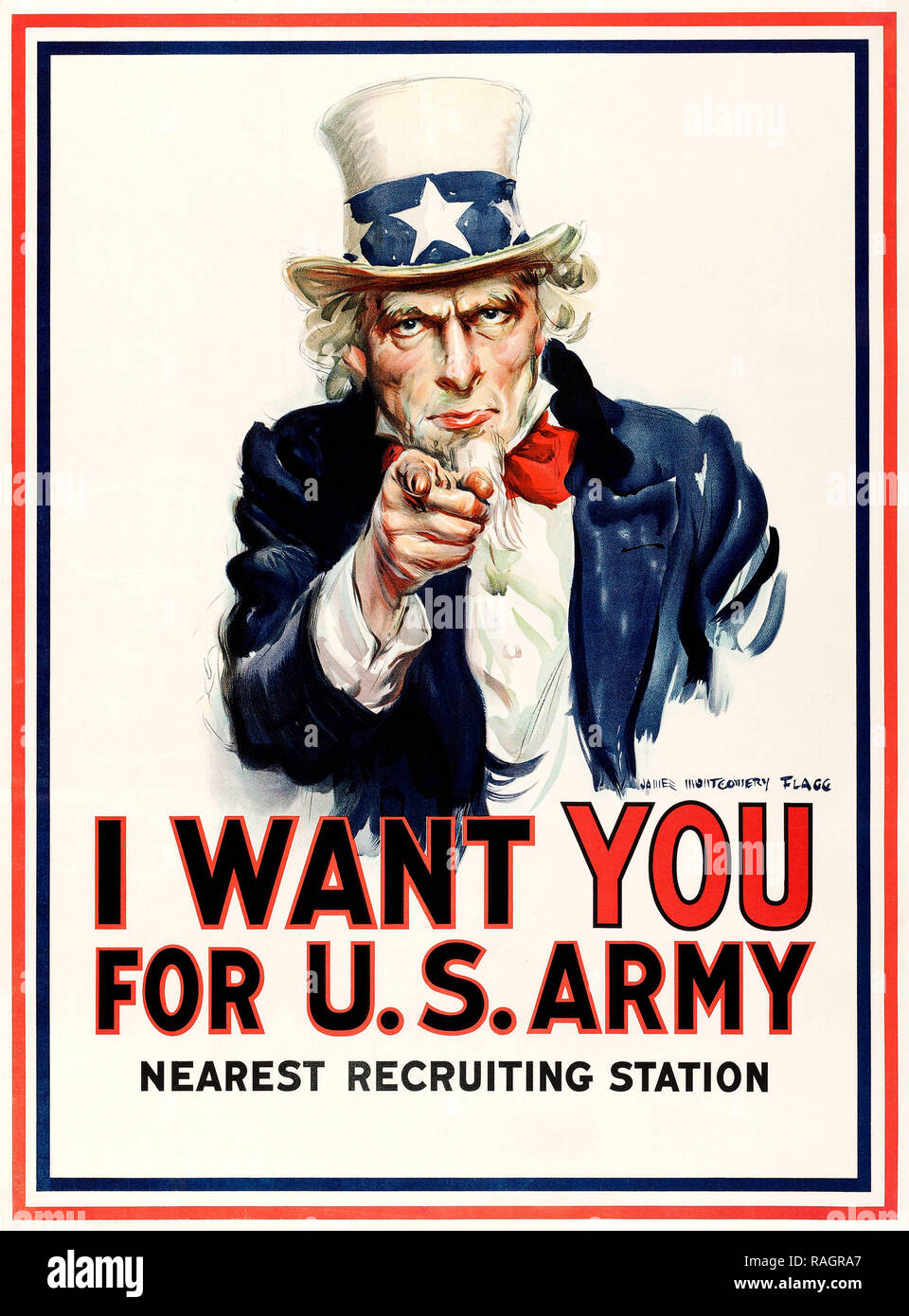 I Want You for U.S. Army recruiting poster by James Montgomery Flagg - Stock Image