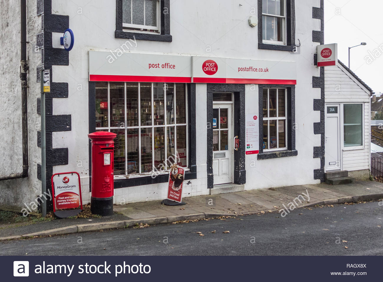 The Post Office in Bolton le Sands, Lancashire, England, UK - Stock Image
