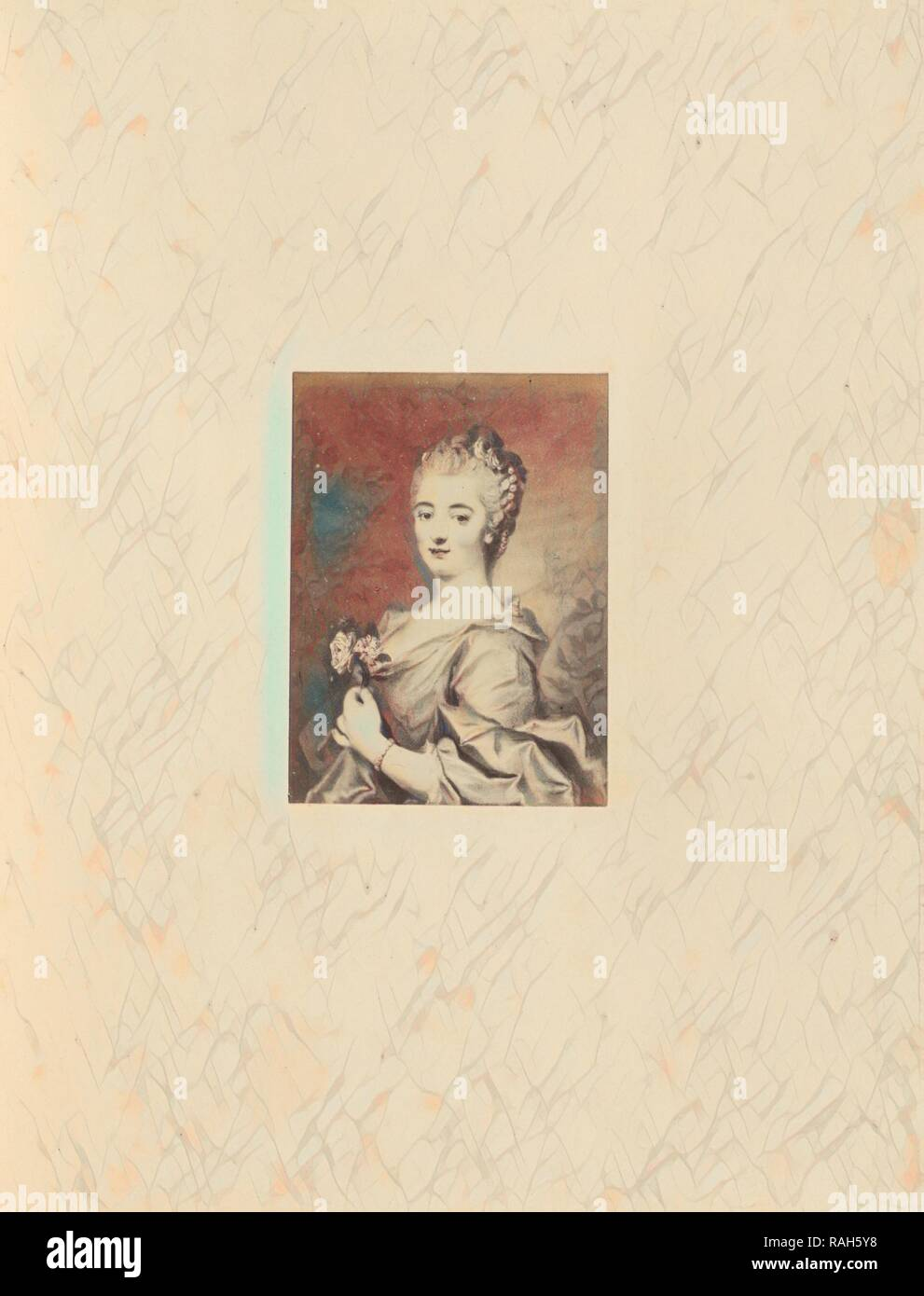 Madame du Barry, Charles Thurston Thompson (English, 1816 - 1868), London, England, 1865, Albumen silver print reimagined - Stock Image