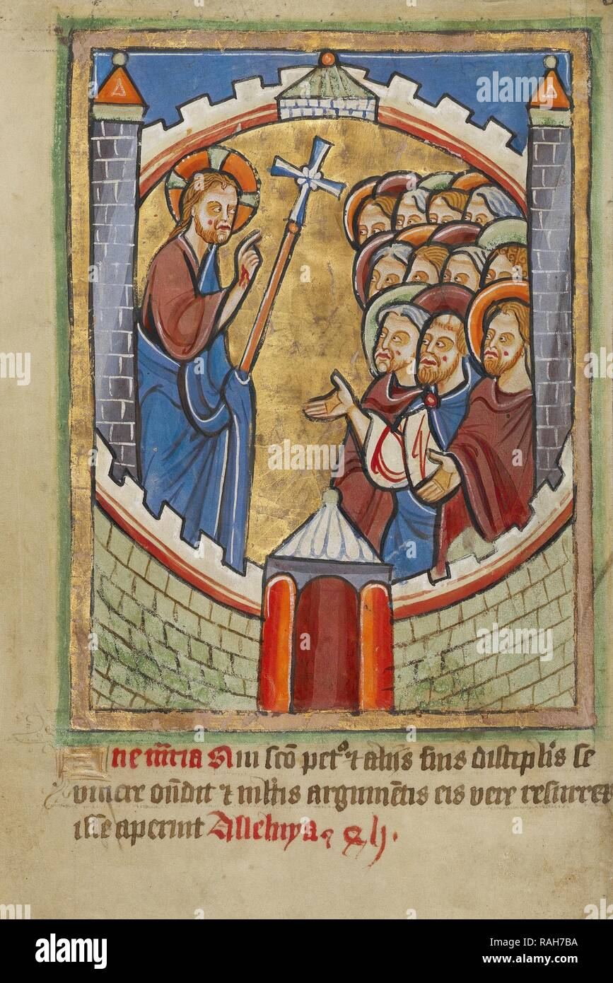 Christ Appearing to the Apostles, York perhaps (illuminated), Northern, England, illumination about 1190, written reimagined - Stock Image