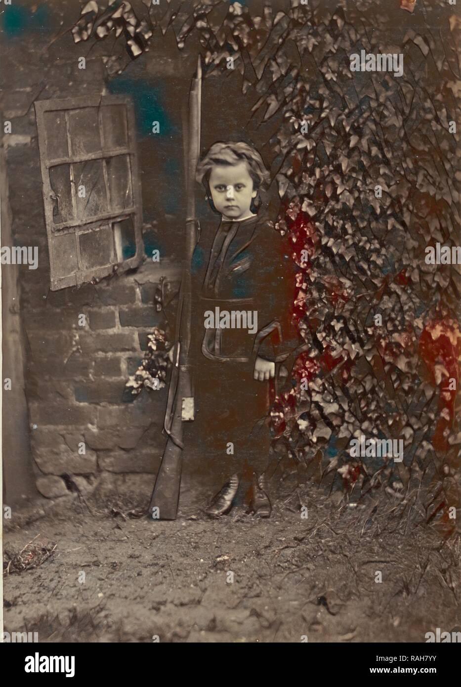 Evan Charteris, Ronald Ruthven Leslie-Melville (Scottish,1835 - 1906), England, 1860s, Albumen silver print reimagined - Stock Image