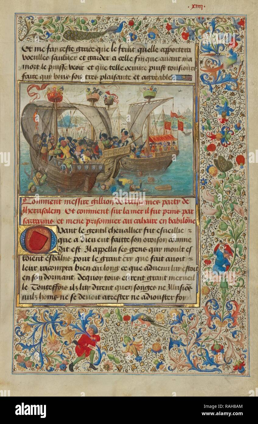 A Naval Battle Between Gillion's Troops and the Soldiers of