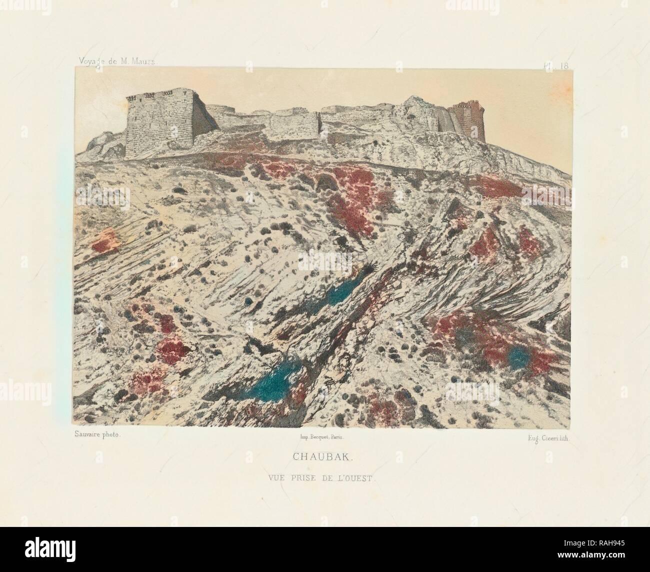 Chaubak, Voyage d'exploration à la mer Morte, à Petra, et sur la rive gauche du Jourdain, Albert, Honoré Paul Joseph reimagined - Stock Image