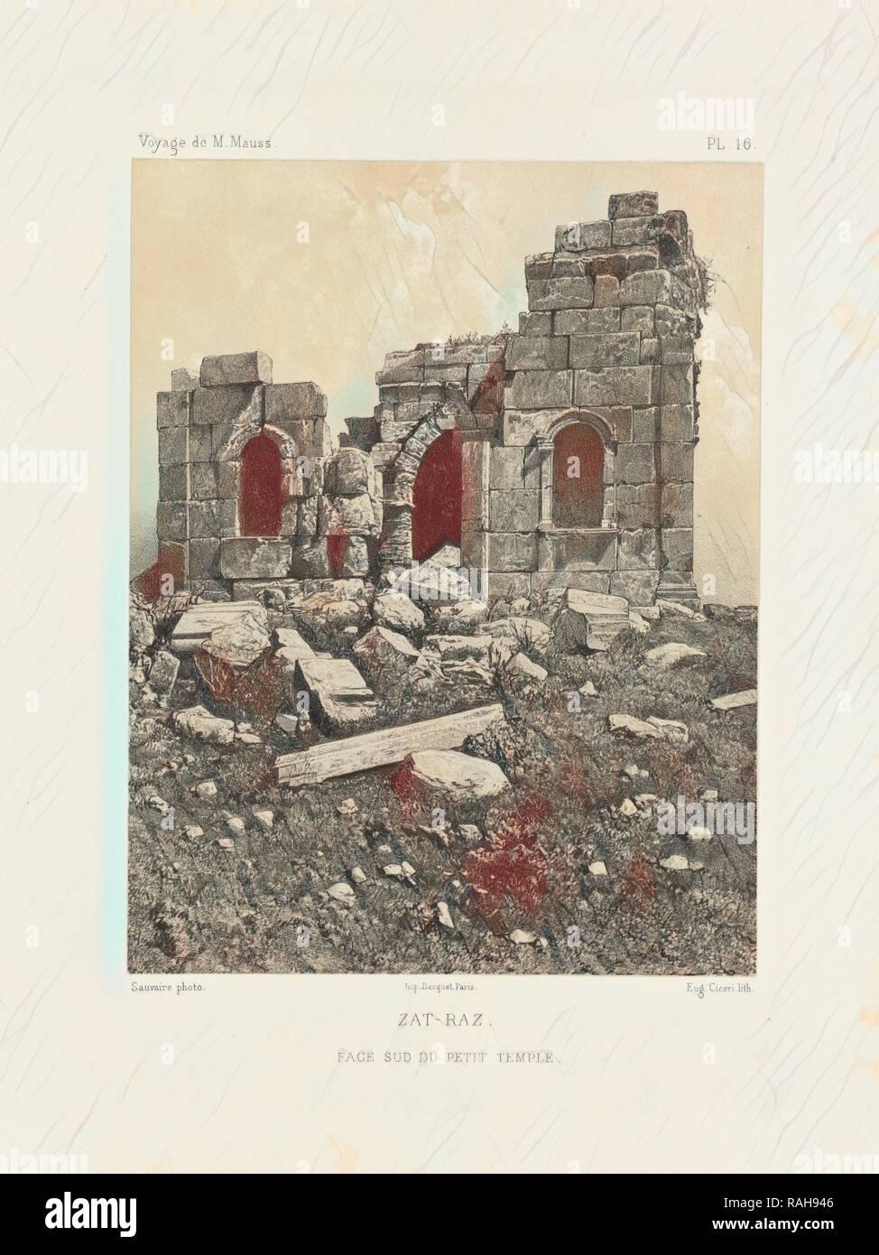 Zat-raz, Voyage d'exploration à la mer Morte, à Petra, et sur la rive gauche du Jourdain, Albert, Honoré Paul Joseph reimagined - Stock Image