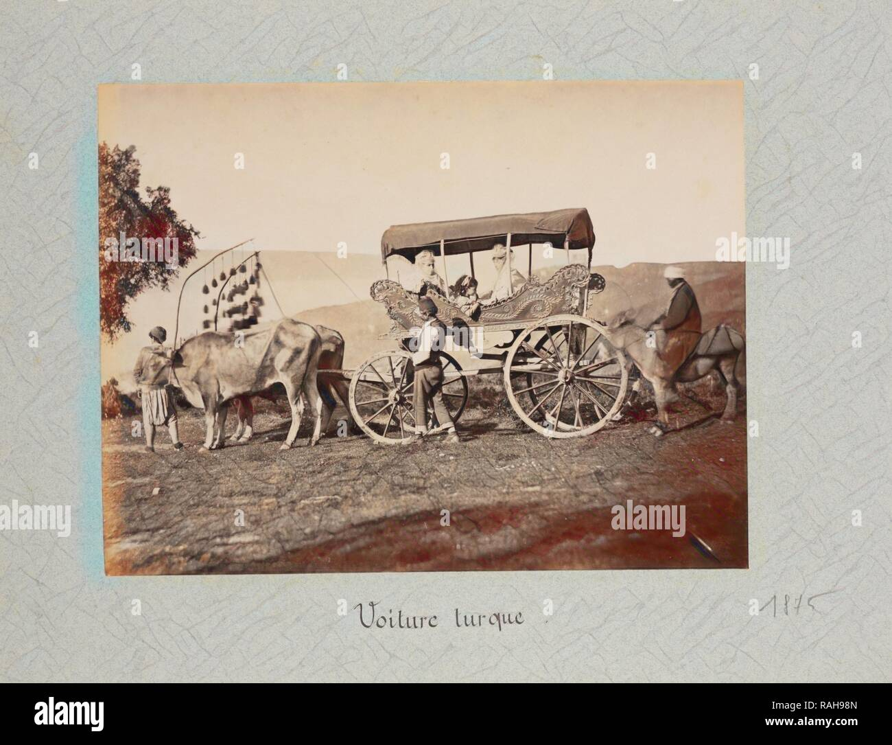 Voiture turque, Gigord, Pierre de, 1852-1950. Reimagined by Gibon. Classic art with a modern twist reimagined - Stock Image