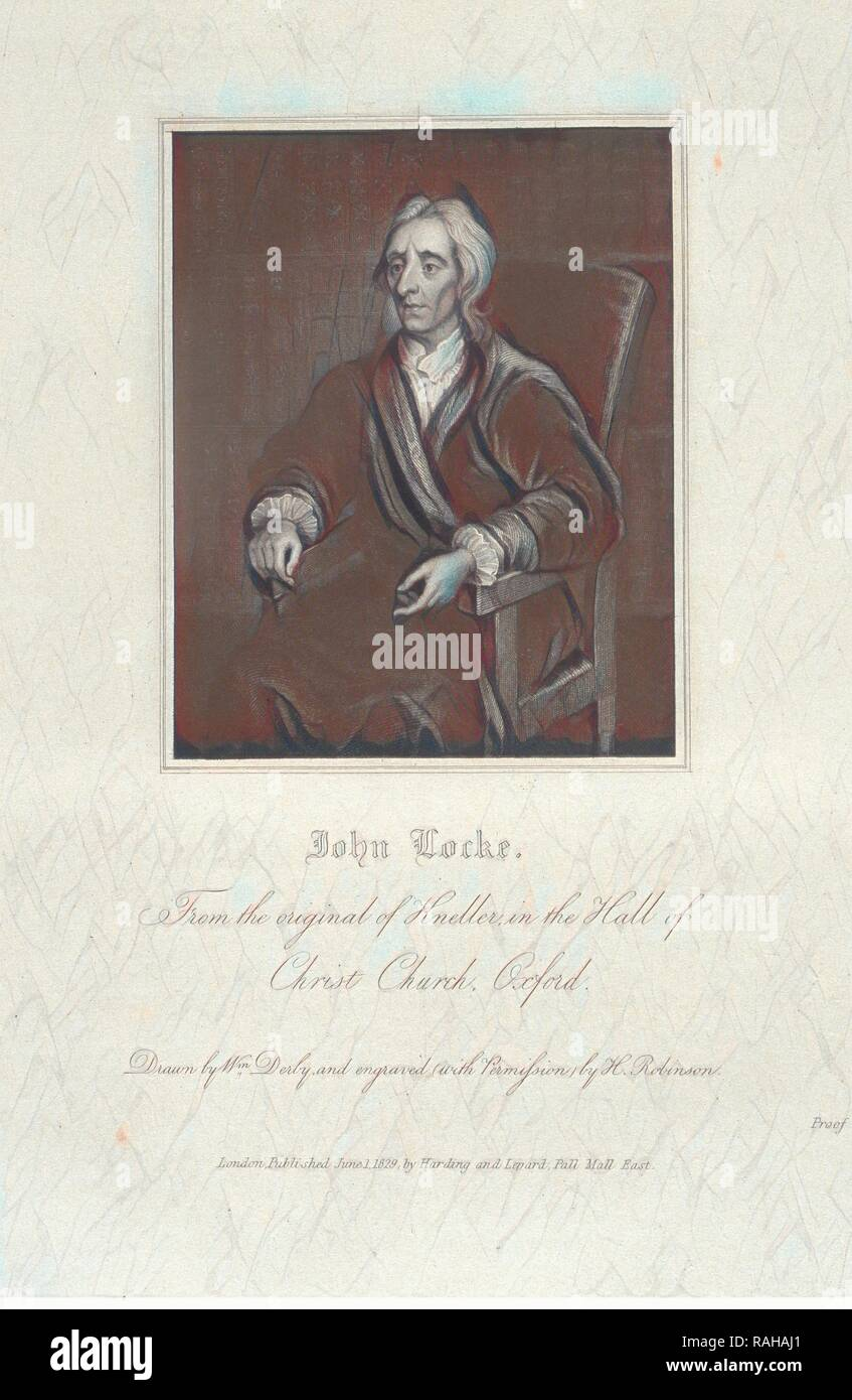 John Locke, Portraits of illustrious personages of Great Britain: engraved from authentic pictures, in the galleries reimagined - Stock Image