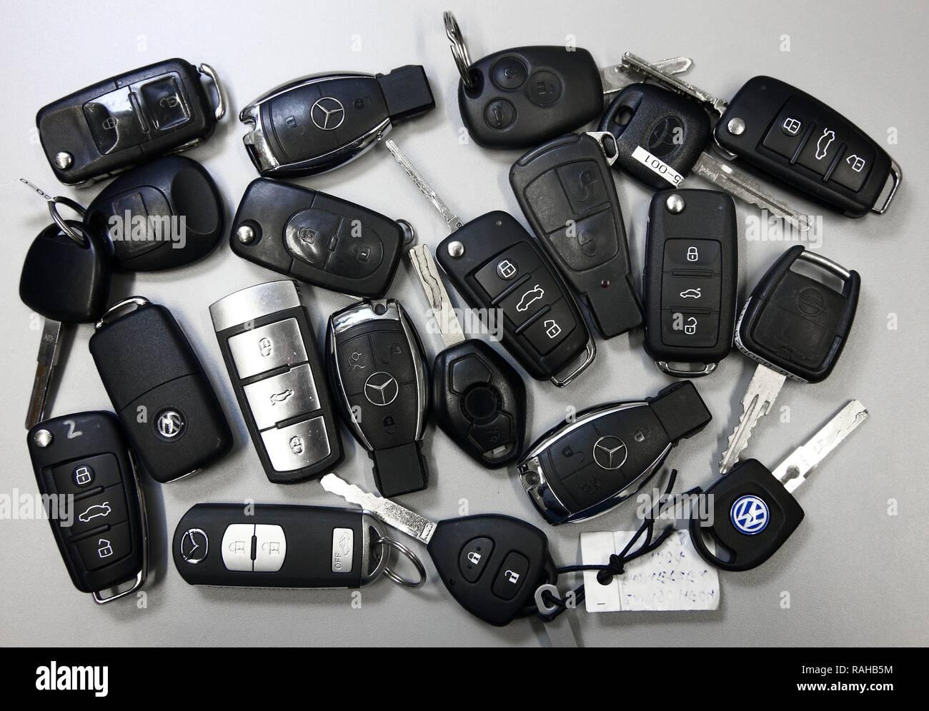 Kriminaltechnisches Institut, KTI, Forensic Science Institute, rigged car keys, police, Landeskriminalamt, LKA - Stock Image