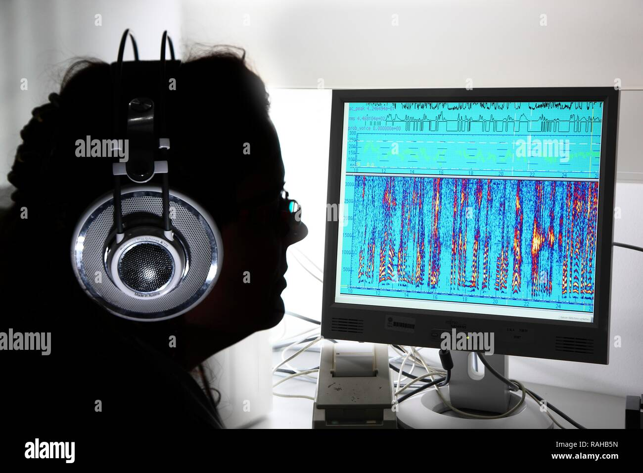 Kriminaltechnisches Institut Kti Forensic Science Institute Department Of Speech Analysis Graphical Depiction Of Voice Stock Photo Alamy