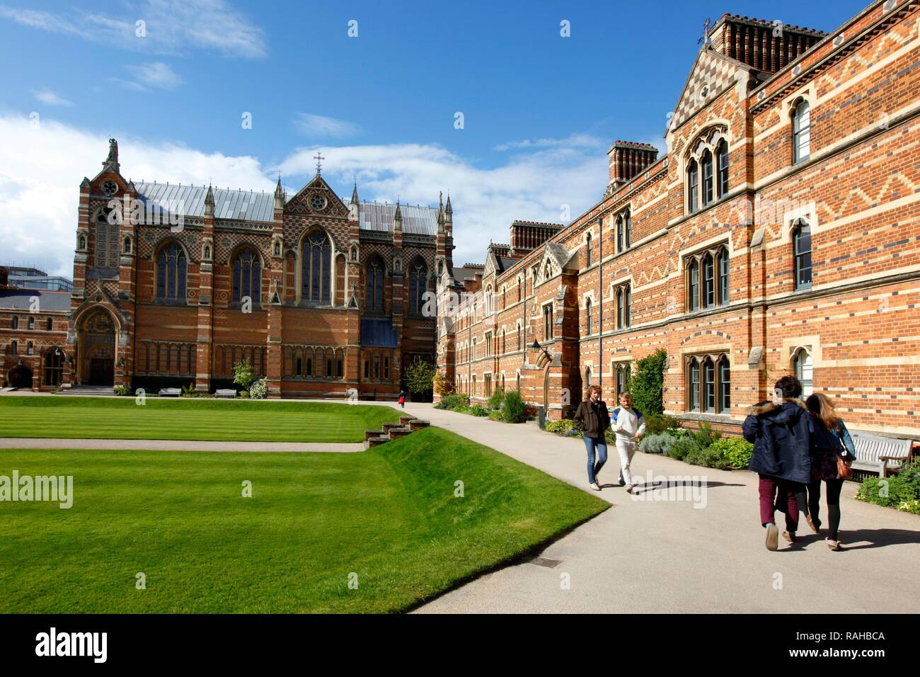 Campus of Keble College, one of 39 colleges, all of which are independent and together form the University of Oxford, Oxford - Stock Image