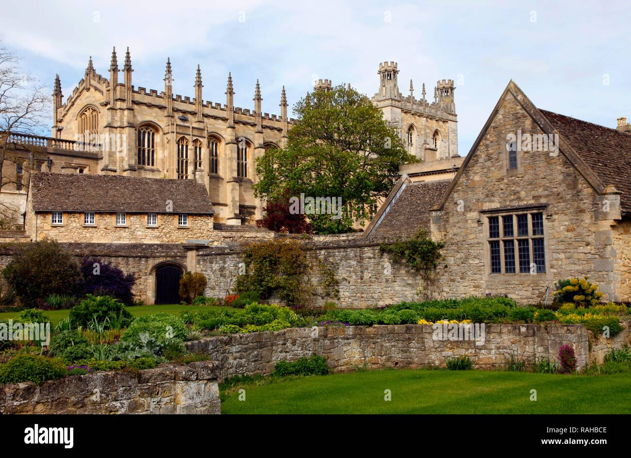 Christ Church College, one of 39 colleges, all of which are independent and together form the University of Oxford, Oxford - Stock Image