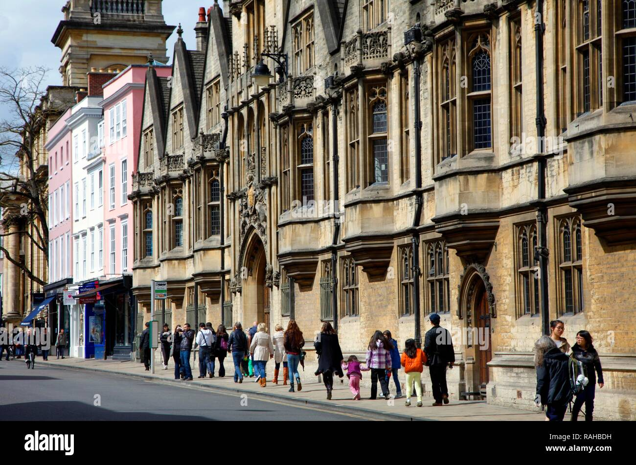 Brasenose College, High Street, inner city, Oxford, Oxfordshire, United Kingdom, Europe - Stock Image