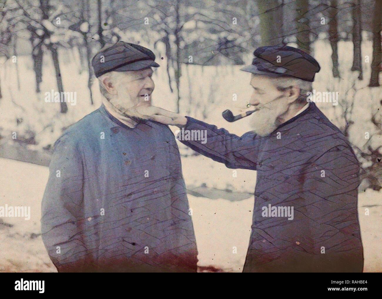 Two farmers, Rotterdam, The Netherlands, Sebastiaan Alphonse Van Besten, c. 1914 - c. 1920. Reimagined - Stock Image