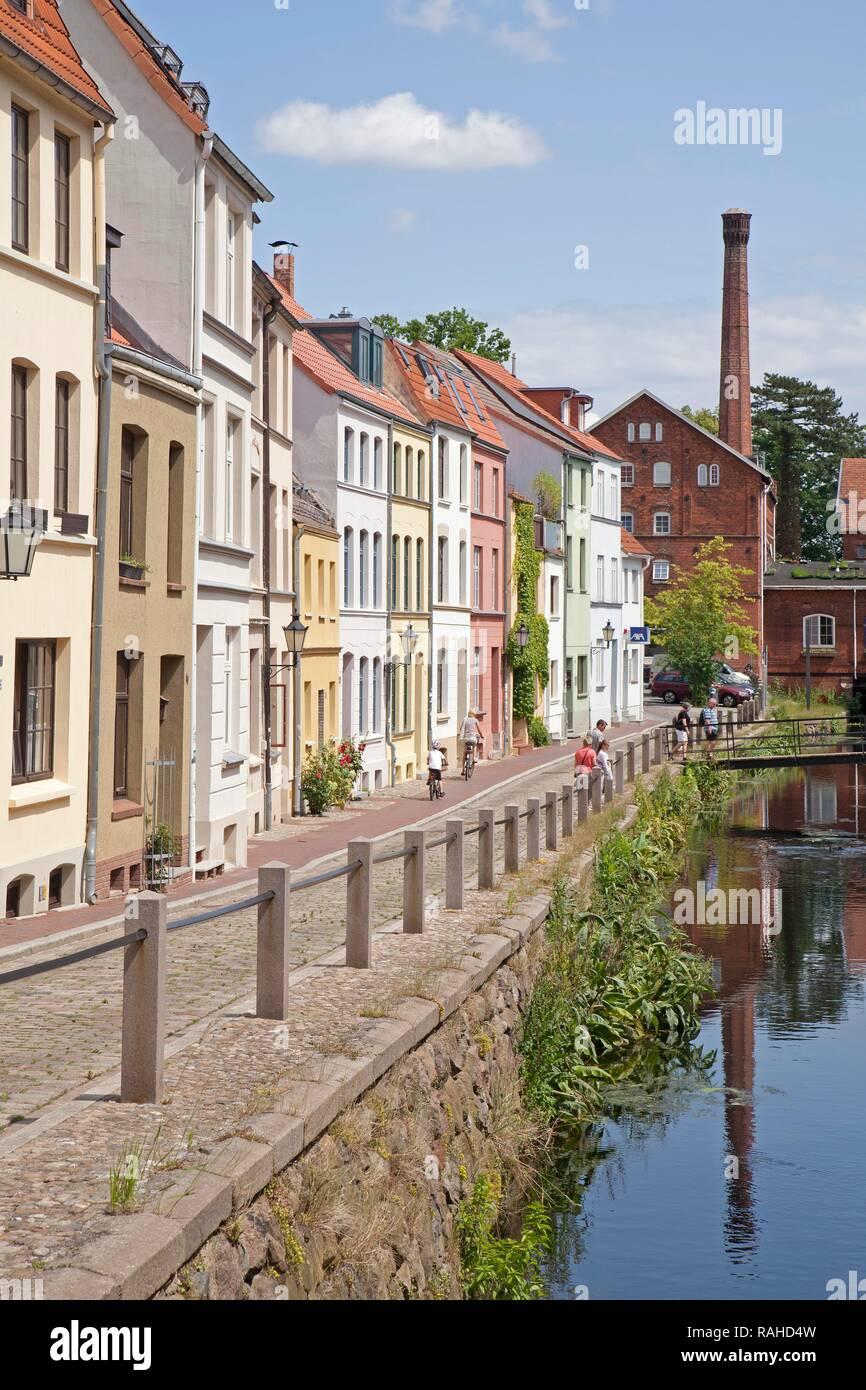 Muehlengrube street, Wismar, Mecklenburg-Western Pomerania - Stock Image