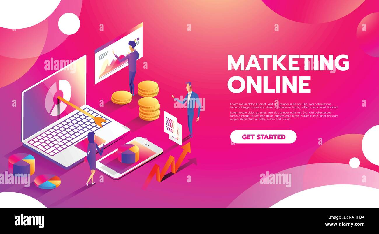 Management Digital Marketing Srartup Planning Analytics Creative Team Design Pay Per Click Seo Social Media Analysis Actions And Development Launch Banners For Websites Flar Design Style Stock Vector Image Art