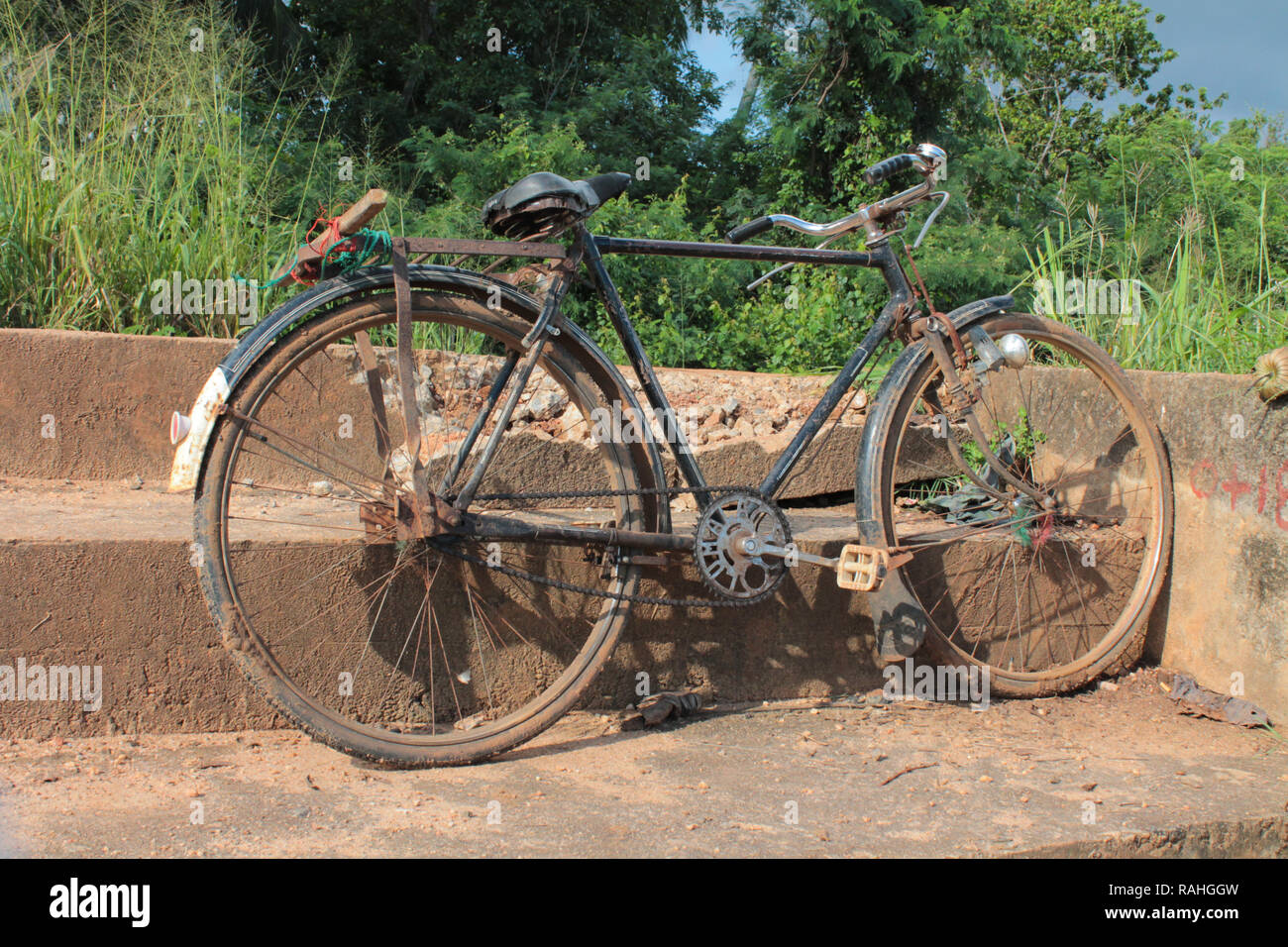 Altes Fahrrad in Sri Lanka - Stock Image