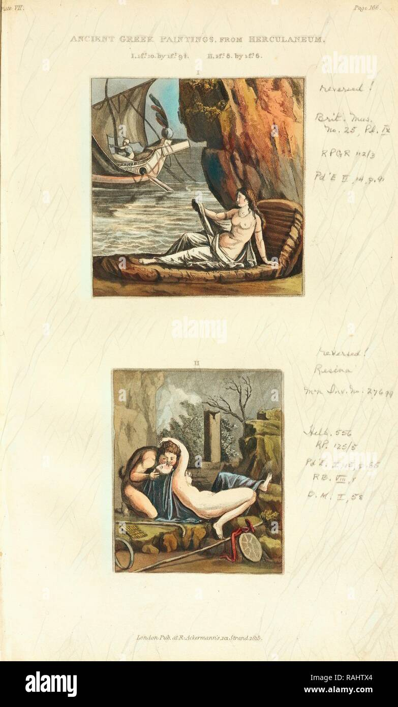 Ancient Greek paintings from Herculaneum, Naples and the Campagna felice: in a series of letters, addressed to a reimagined - Stock Image