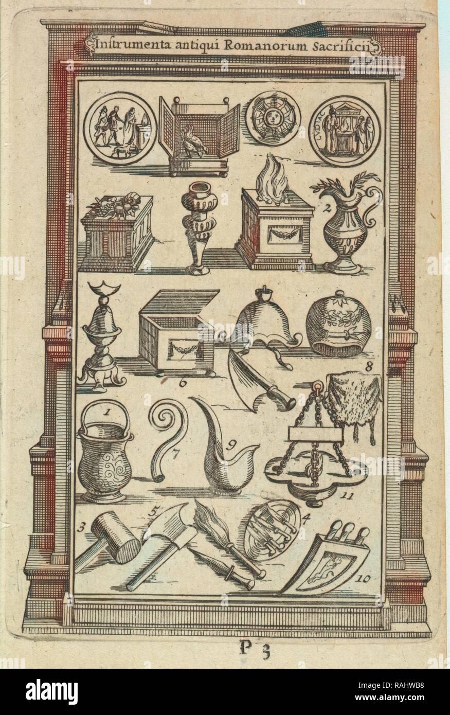 Instrumenta antiqui Romanorum Sacrificii, L'ancienne Rome: la principale des villes de l'Europe, avec toutes ses reimagined - Stock Image