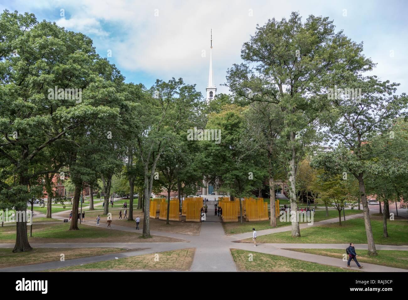 Park Harvard Yard, Harvard University, Cambridge, Massachusetts, USA Stock Photo