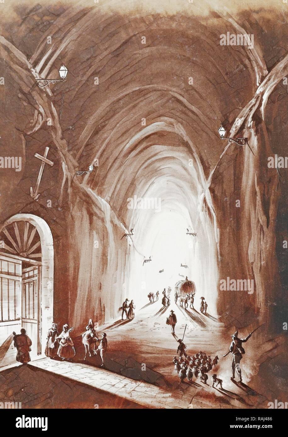 Piedigrotta Naples Napoli Italy Reimagined By Gibon Classic Art