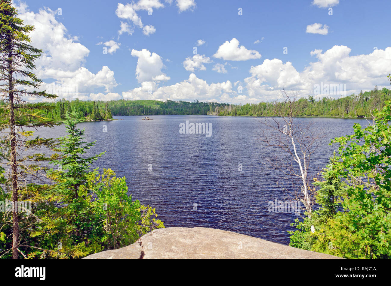 Ham lake in the Boundary Waters in Minnesota - Stock Image