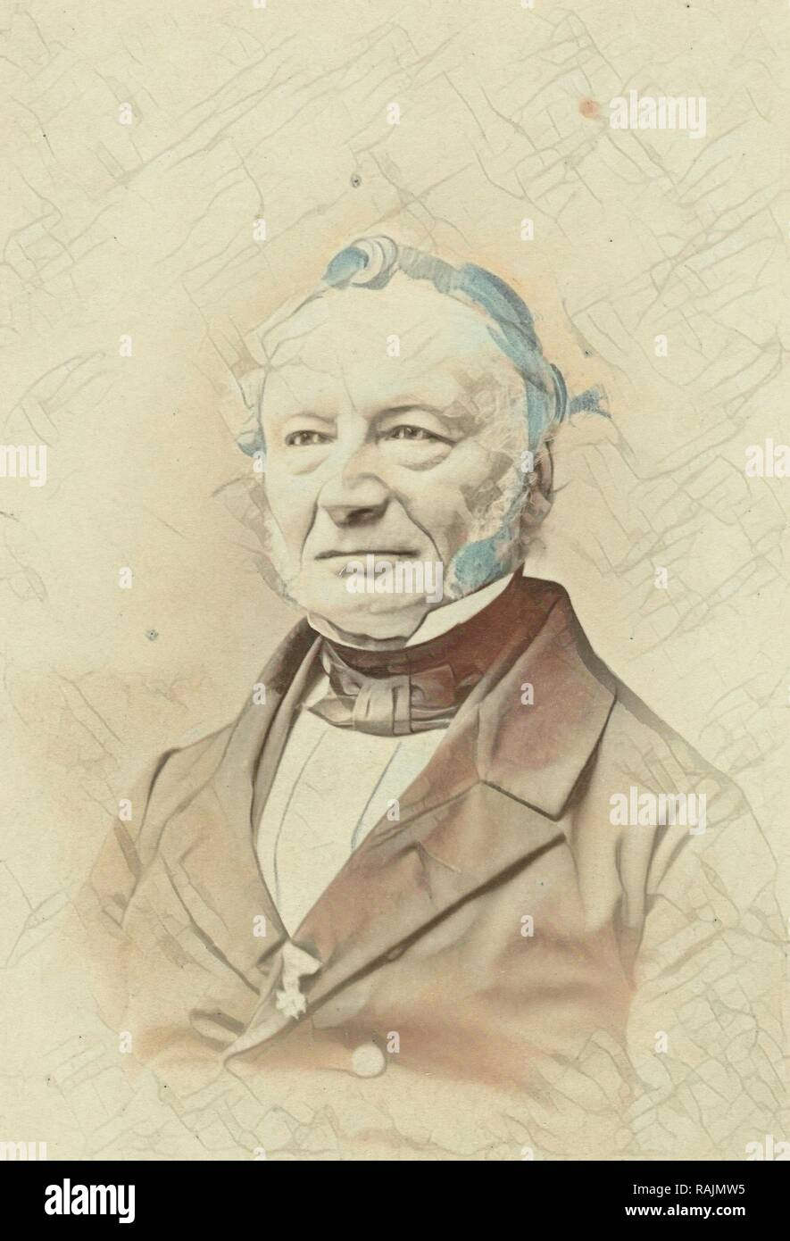 Portrait of L. G. Pareau, professor in the Faculty of Theology at the University of Groningen, The Netherlands reimagined - Stock Image