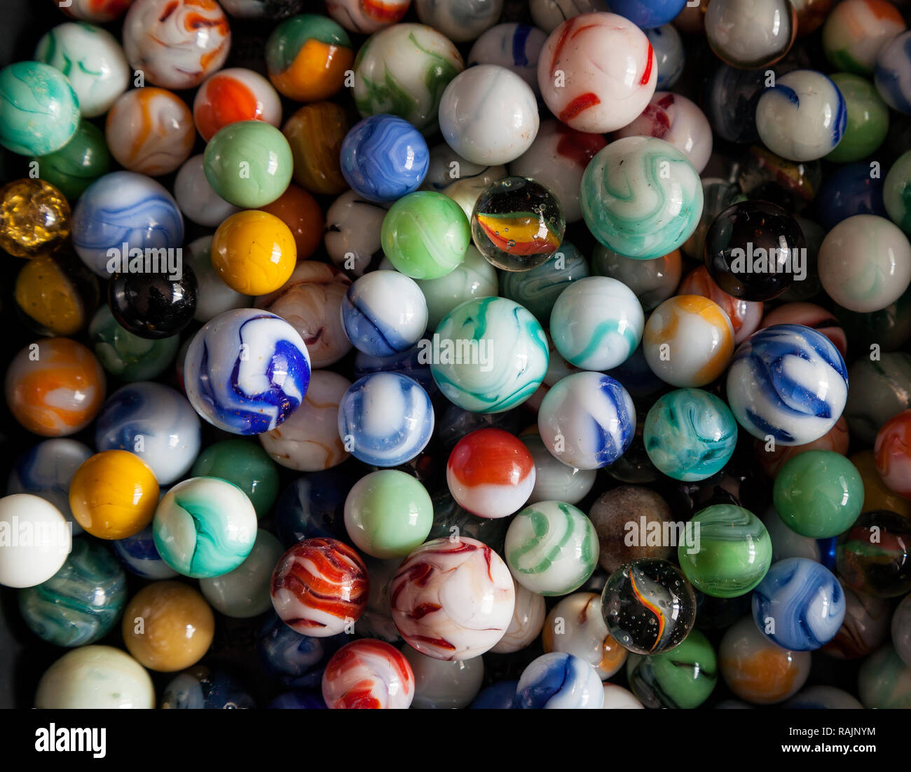 Marbles, color galore!! - Stock Image