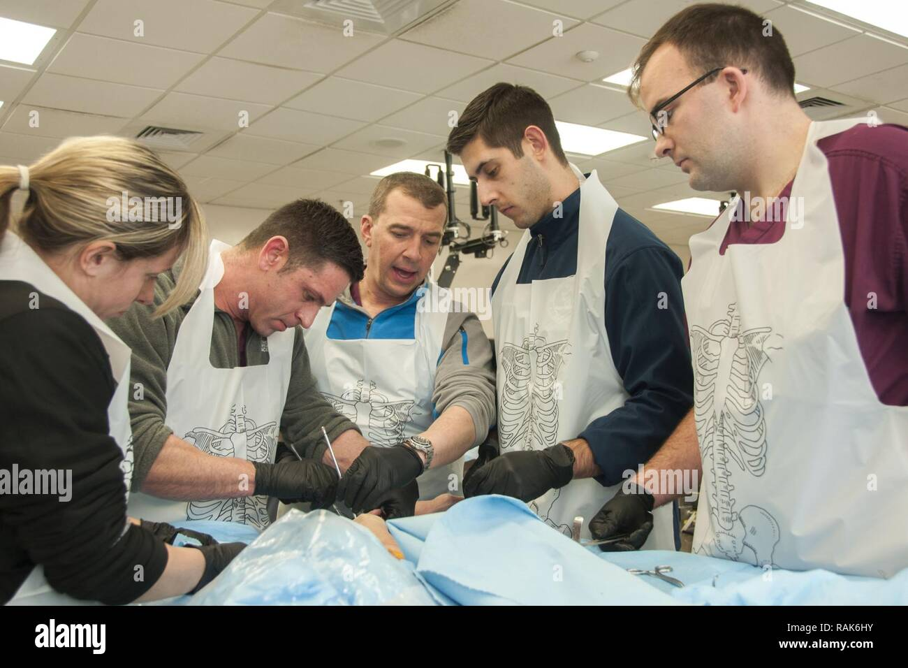 Soldiers with Army Trauma Training Center's Combat Extremity Surgery