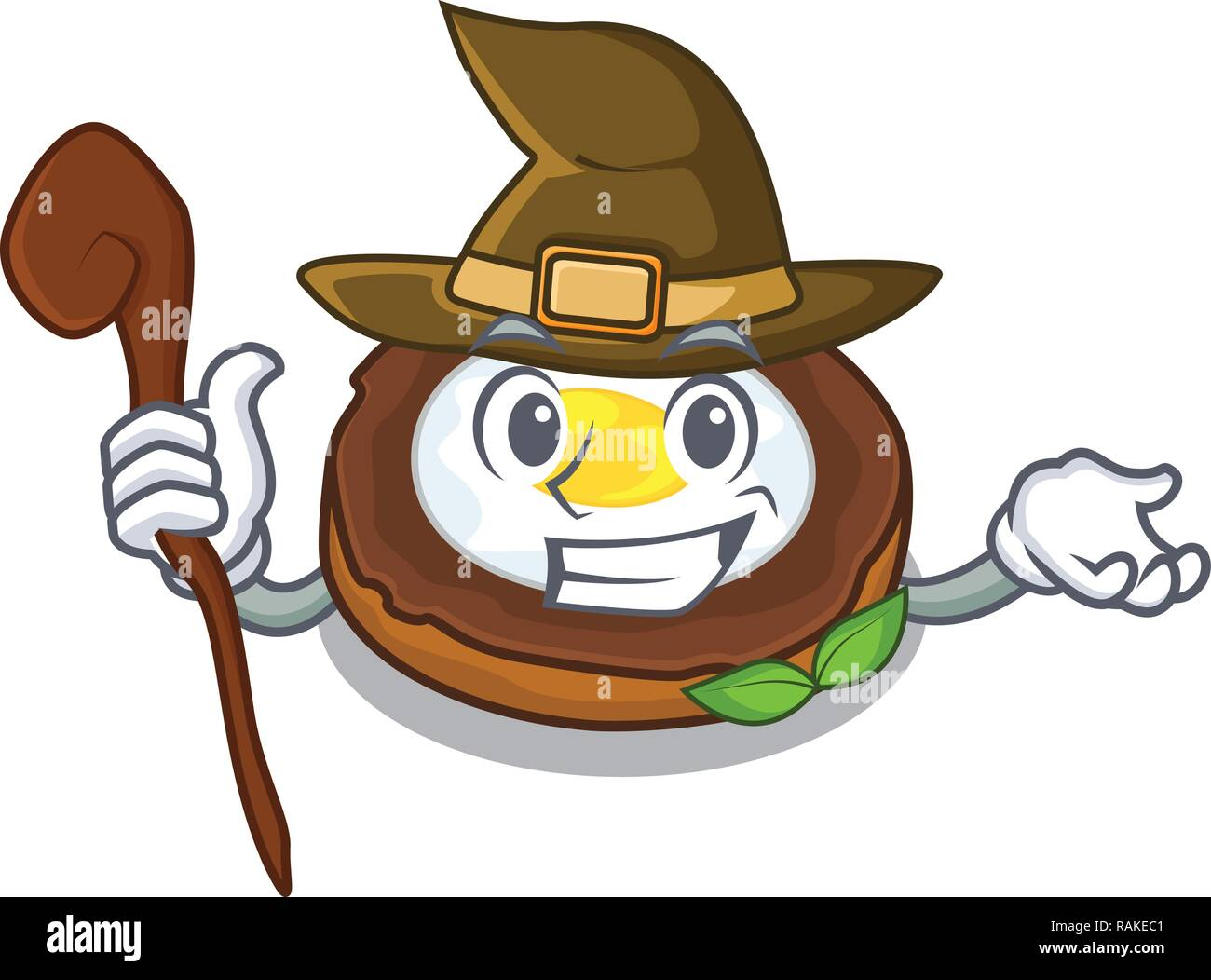 Witch egg scotch on character wood boards - Stock Vector