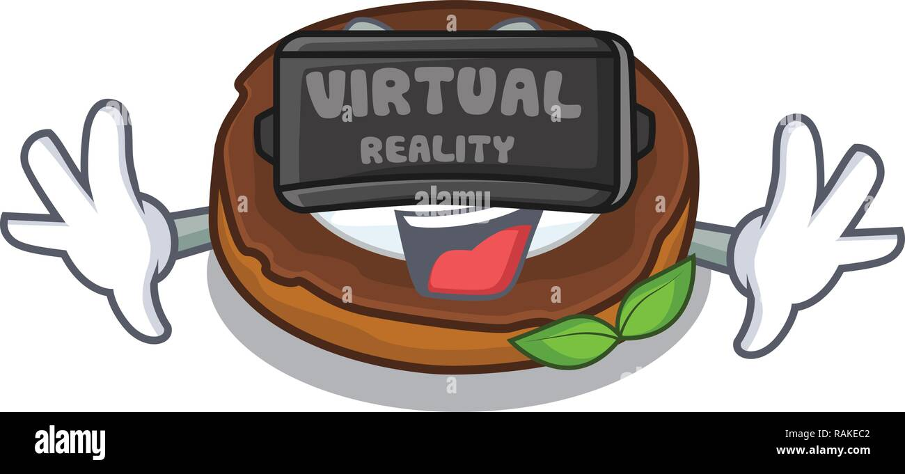 Virtual reality egg scotch on character wood boards - Stock Vector