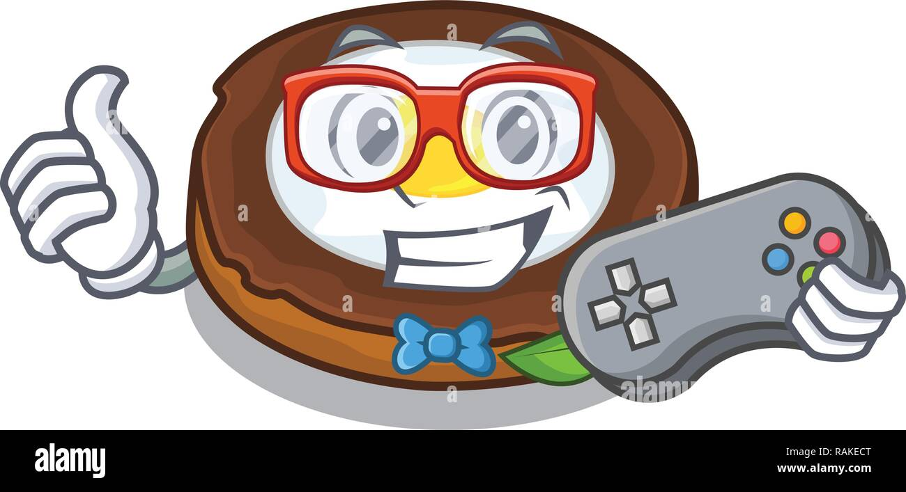 Gamer egg scotch on character wood boards - Stock Vector