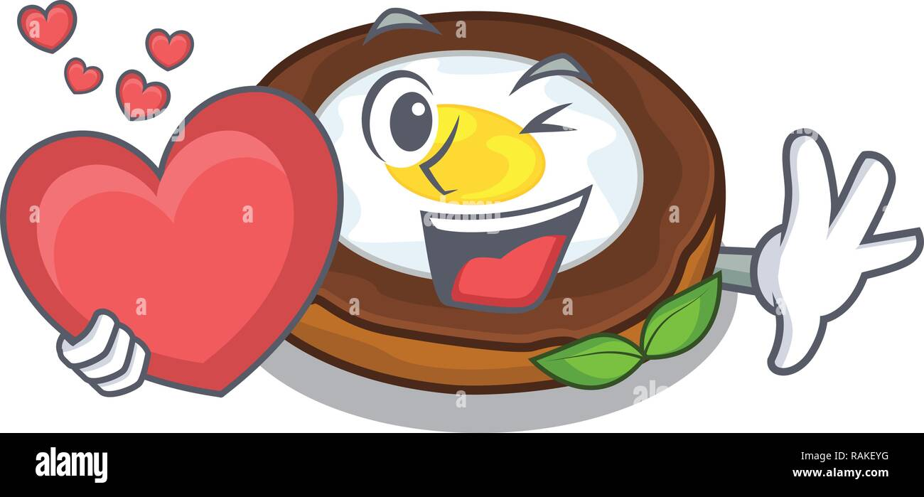 With heart egg scotch on character wood boards - Stock Vector