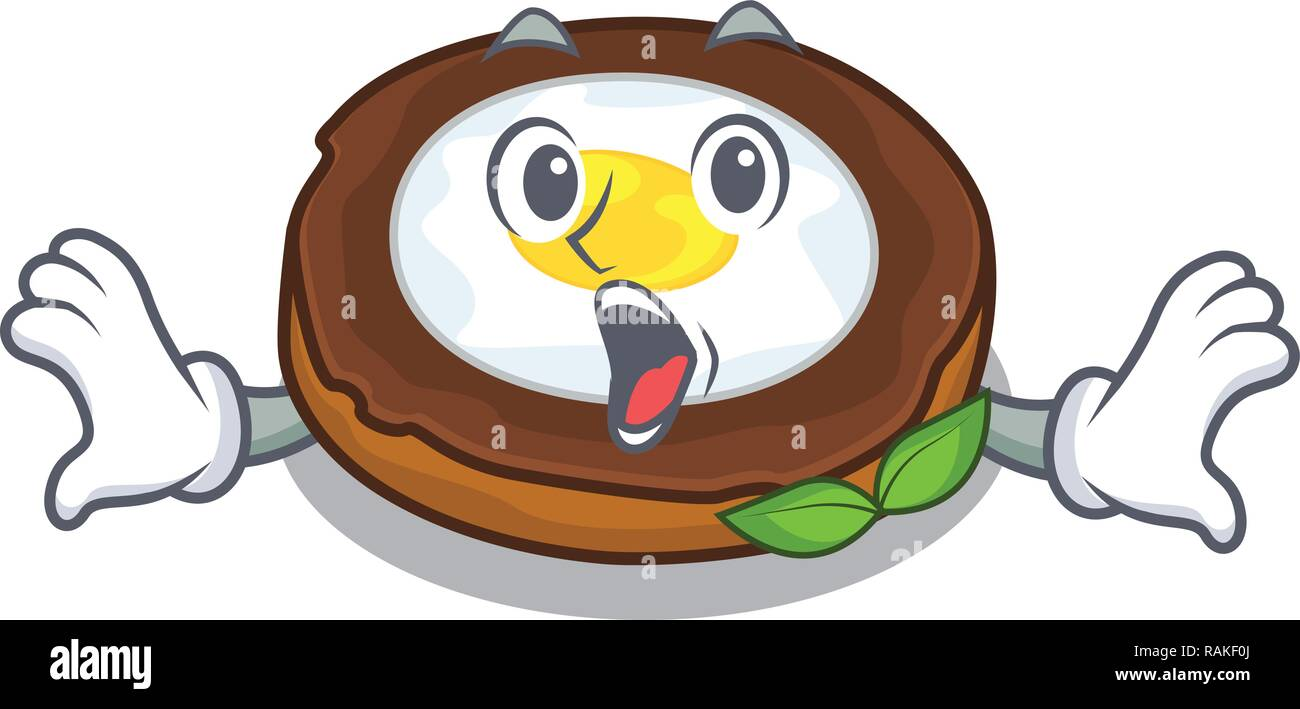 Surprised egg scotch on character wood boards - Stock Vector