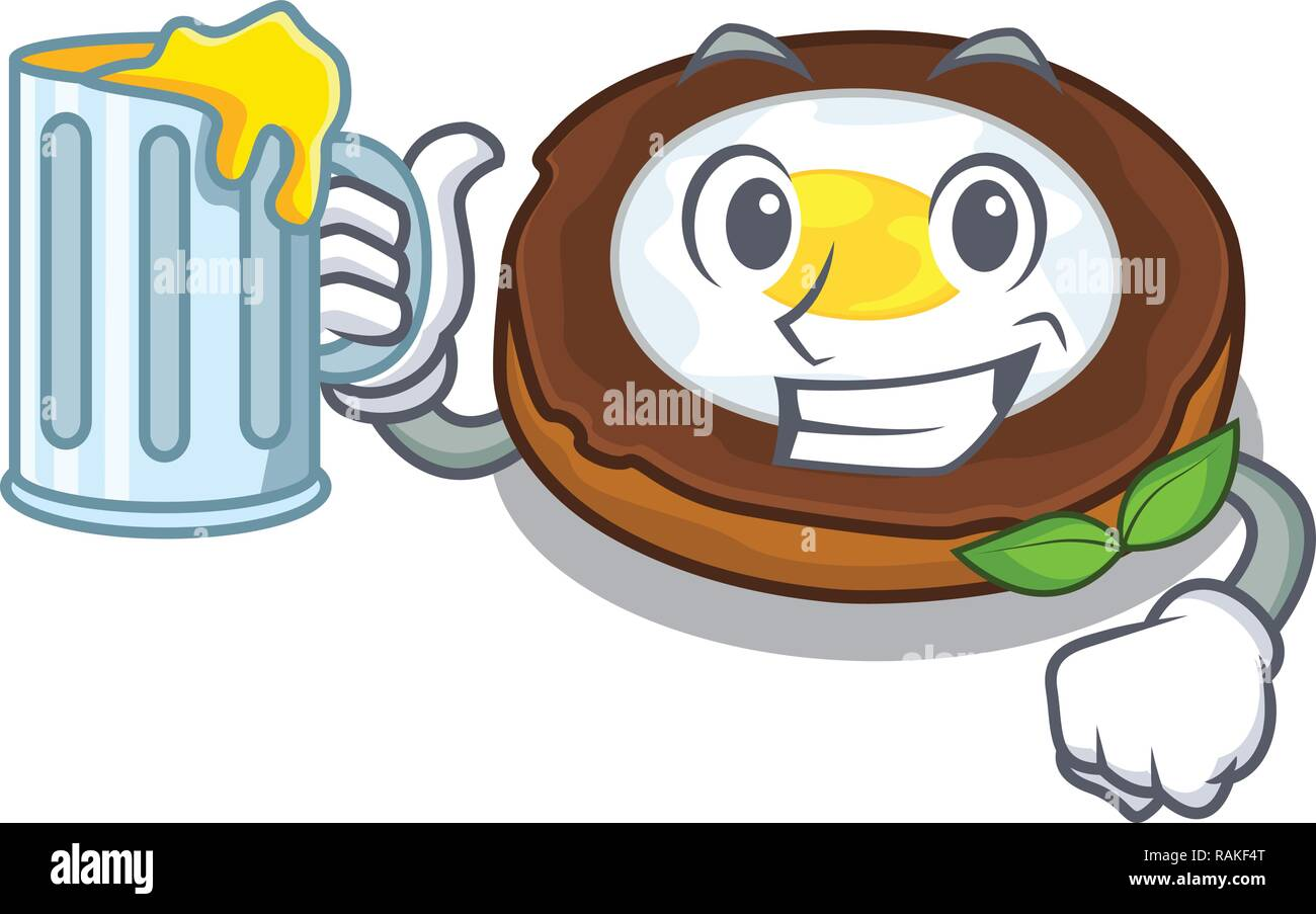 With juice egg scotch on character wood boards - Stock Vector