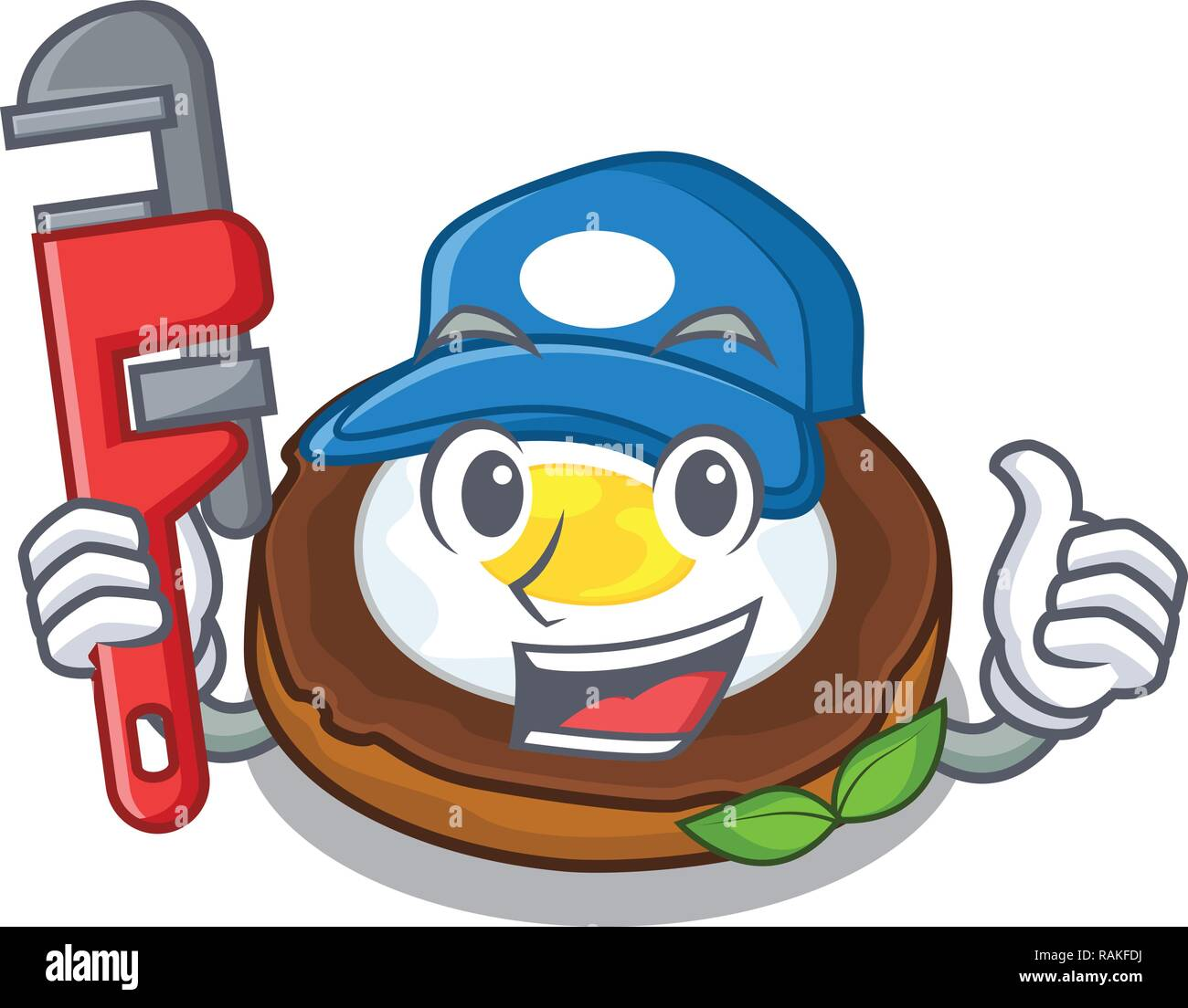 Plumber scotch eggs at the mascot bowl - Stock Vector