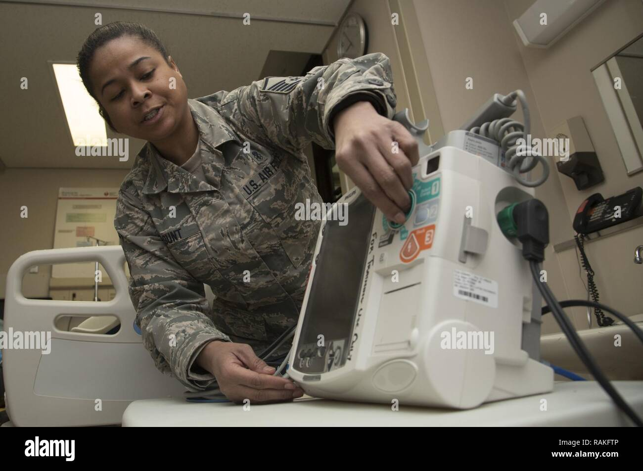 U S  Air Force Master Sgt  Charlene Blunt, the 35th Medical Group